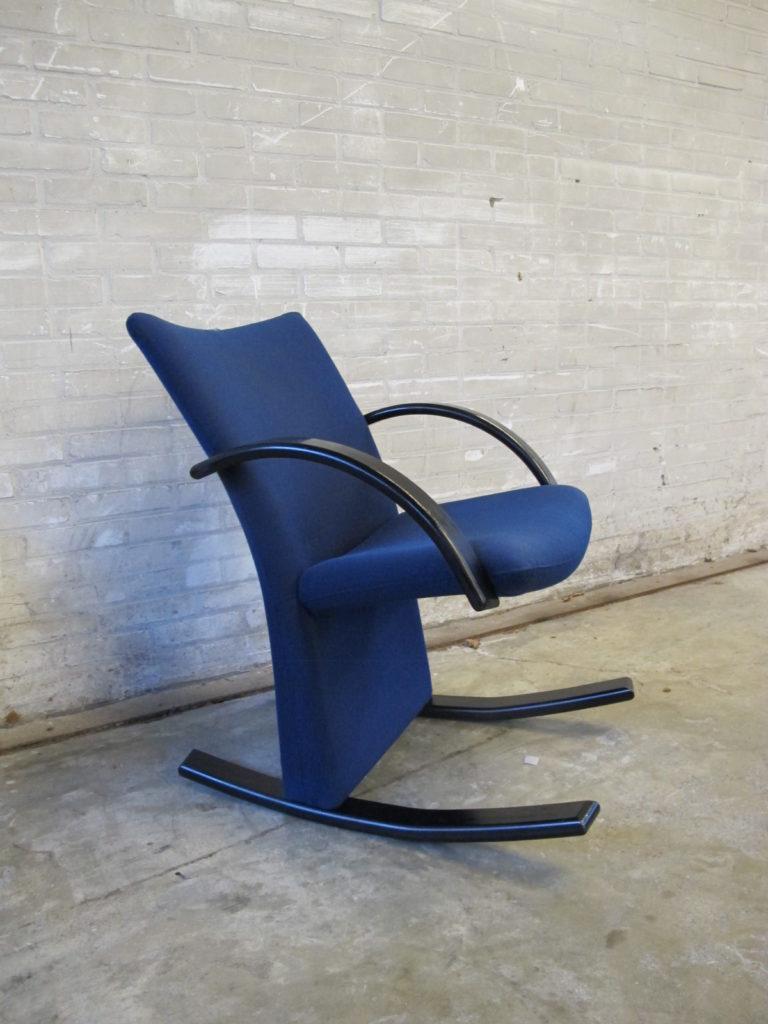 Tussen cor kitsch product fauteuil scandinavische schommelstoel pastoe yngve ekstrom stijl - Scandinavische blauwe ...
