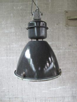 Emaillen fabriek hanglamp Industrieel groot model jaren 60