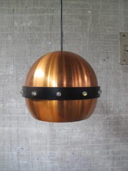 Vintage Deense Fog Morup messing hanglamp jaren 60