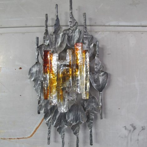 Tom Ahlström Hans Ehrlich brutalist wandlamp