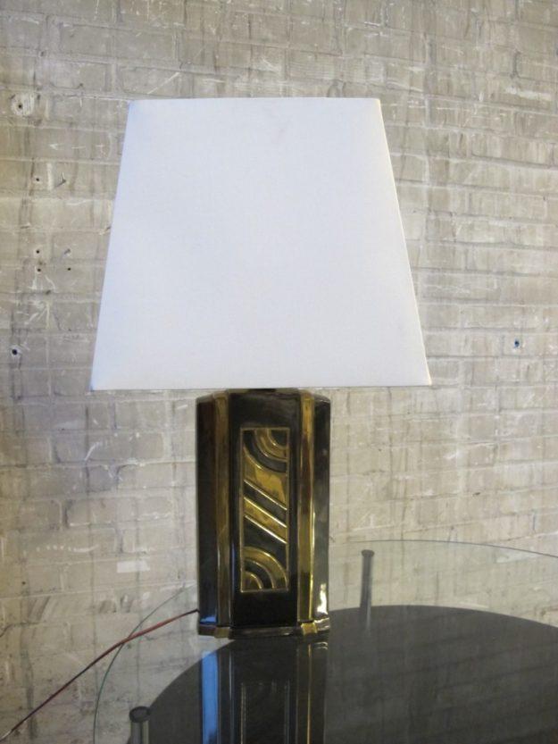DeKnudt Willy Rizzo stijl zware brass tafellamp