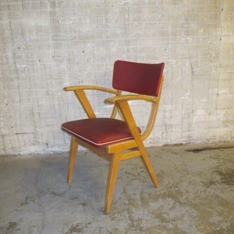 Pastoe stijl berkenhouten eethoek stoel jaren 60