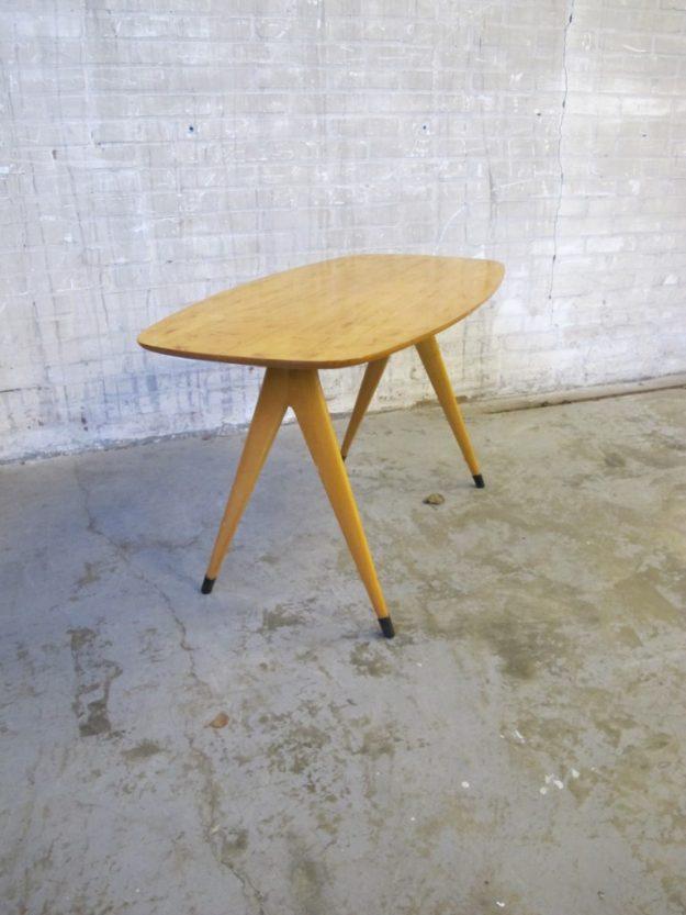 Cor Alons Pastoe berkenhouten salontafel jaren 60
