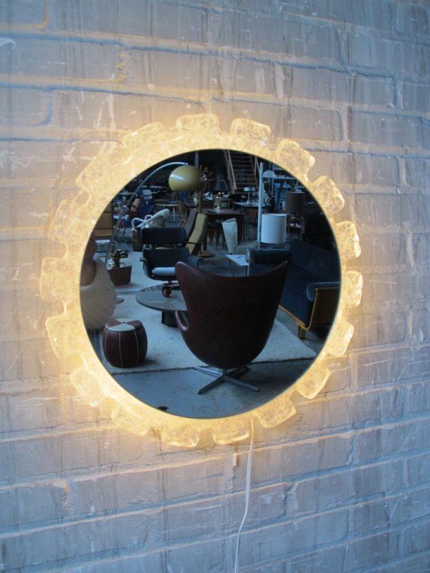 Hillebrand kunststof spiegel verlichting jaren 60