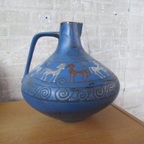 Ceramano Pergamon vaas met paarden van Hanss Welling Germany