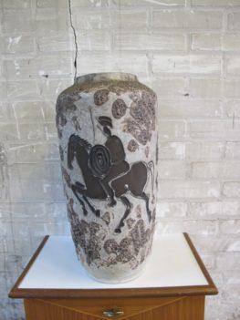 Grote Jaren 60 Roth lava Scheurich vaas met paarden