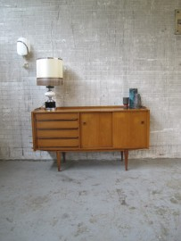 vintage dressoir pastoe deense teakhout
