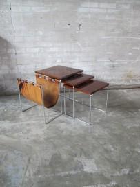 brabantia palissander chromen nesting tables miniset