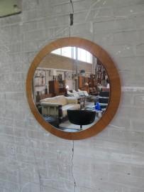 pastoe teakhouten ronde spiegel