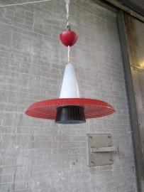 hang lampje spot stalen lamp rood