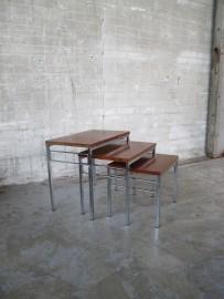 pastoe stijl palissander houten nesting tables
