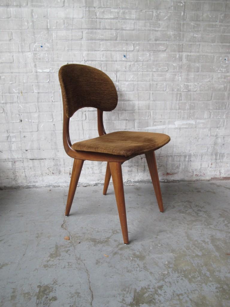 Tweedehands Design Eetstoelen.Vier Louis Van Teeffelen Teakhouten Design Stoelen Uit Jaren 60