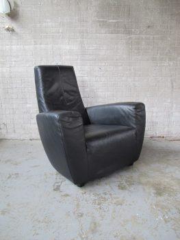 fauteuil gerard van den berg label longa lederen lounge