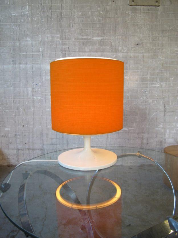tafellamp oranje retro kunsstof kartell