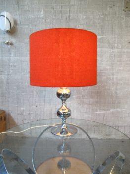 tafellamp grote retro rode chromen