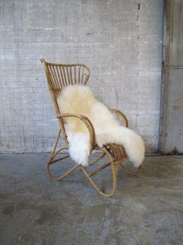 vintage Rohe hoge rotan fauteuil Rohe Noordwolde