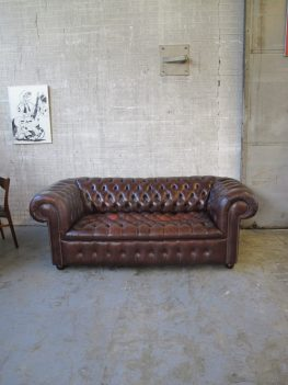 Originele Chesterfield bank leder