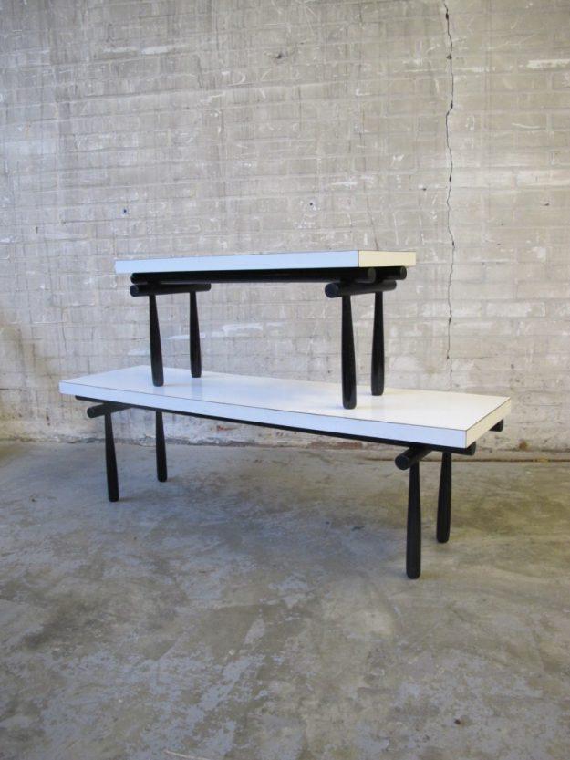 wit formica bijzet tafel
