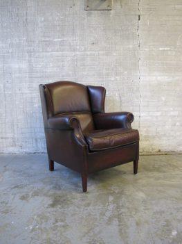 Muyleart fauteuil donker bruin leder