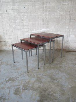 Pastoe chroom chromen nesting tables miniset