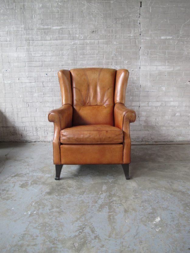 lederen heren fauteuil