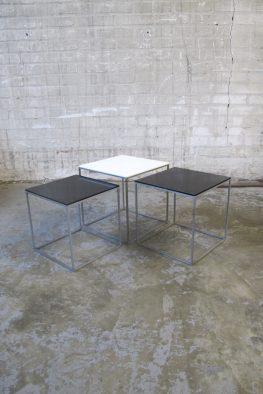 Nesting tables bijzettafeltjes PK 71 Poul Kjaerholm Kold Christensen Denemarken 1957