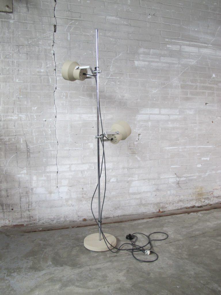 twee spots vloerlamp