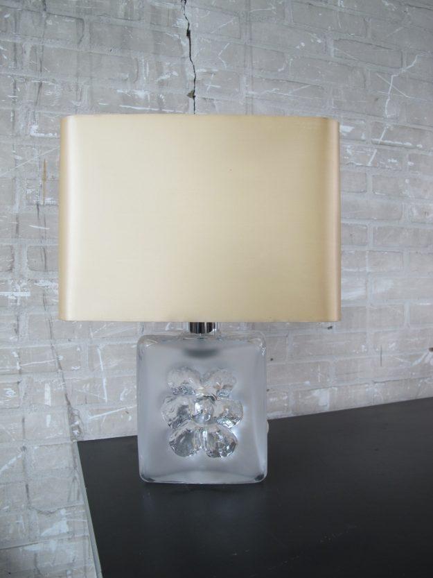 tafellamp met Murano glazen voet