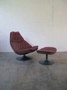Lounge fauteuil F588 Ottoman Geoffrey Harcourt Artifort jaren 60