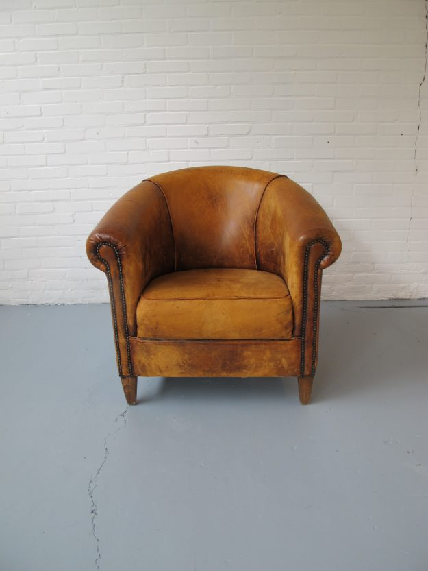 lederen club fauteuil