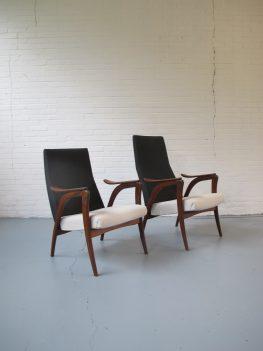 Louis van Teeffelen Yngve Ekström stijl Fauteuils Loungechair