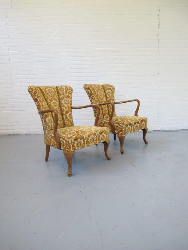 Fauteuil vintage Pastoe stijl Cocktail club fauteuils