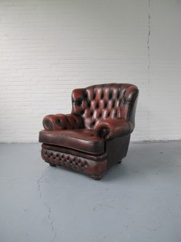 Chesterfield fauteuil Oxblood rood