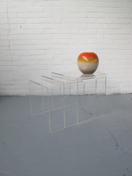 miniset tafeltjes plexiglas nesting tables miniset tafeltje pastoe