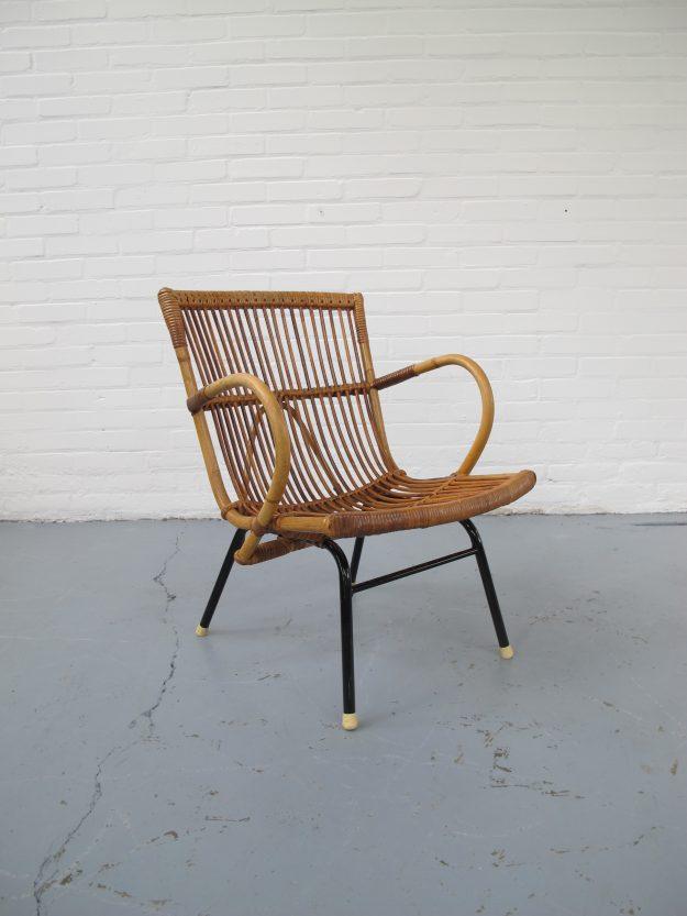 vintage Rohe Noordwolde rotan fauteuil