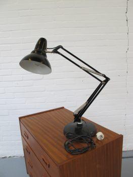 vintage Industriële Luxo Jacob Jacobson midsentury schaarlamp bureaulamp