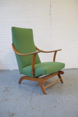 fauteuil midcentury vintage pastoe rockingchair schommelstoel
