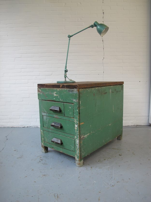 industriele Sis industriële bureaulamp midsentury vintage