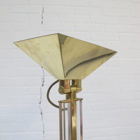 Lamp DeKnudt Willy Rizzo gouden vloerlamp vintage midsentury