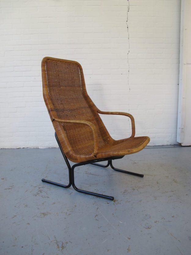 Rotan Lounge fauteuil Dirk Sliedrecht Rohe Noordwolde vintage midsentury