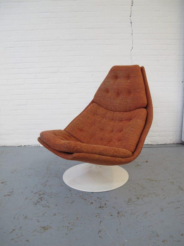 Geoffrey Harcourt Artifort fauteuil F587 midcentury vintage Lounge fauteuil model F587