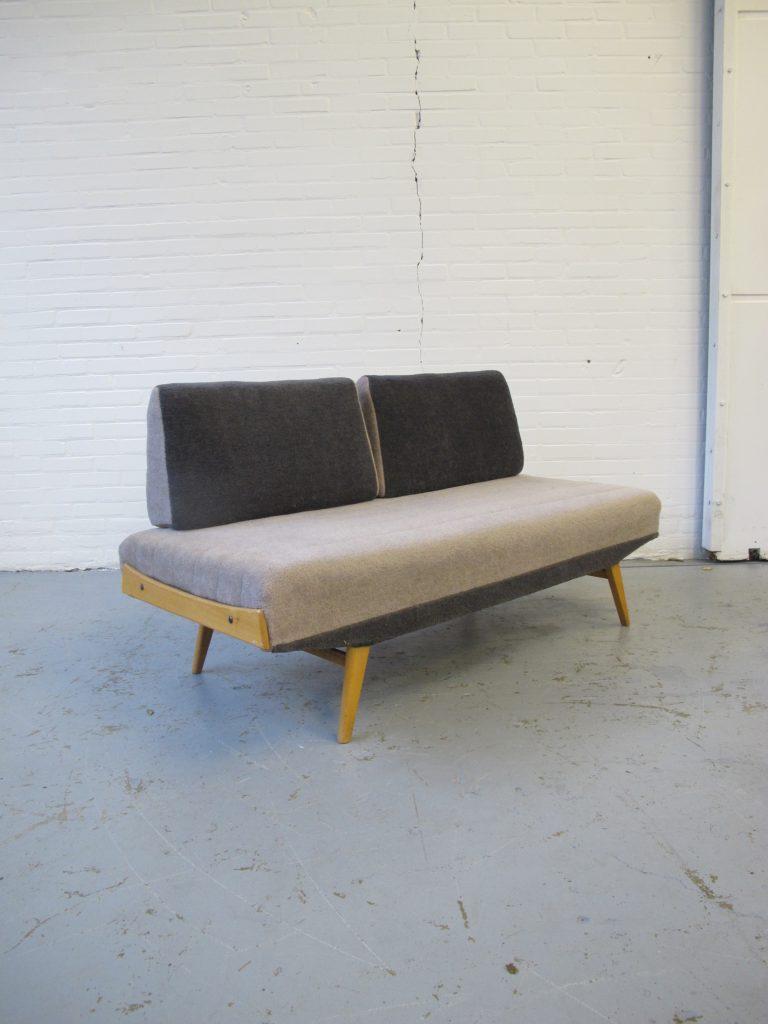 Daybed walter knoll stijl berkenhouten lounge bank daybed uit de jaren 60 tweedehands kopen - Lounge stijl ...