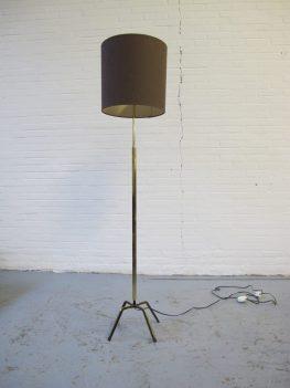 lamp brass Stil novo Milano Italië vloerlamp midcentury vintage