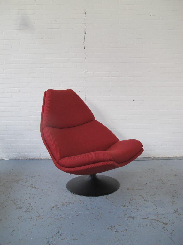 Vintage Stoel Artifort.Lounge Fauteuil F511 Van Geoffrey Harcourt Voor Artifort Jaren 70