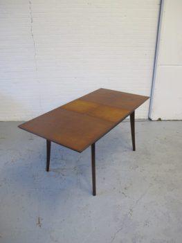 Tafel Webe Louis van Teeffelen teakhouten uitschuif tafel vintage midsentury