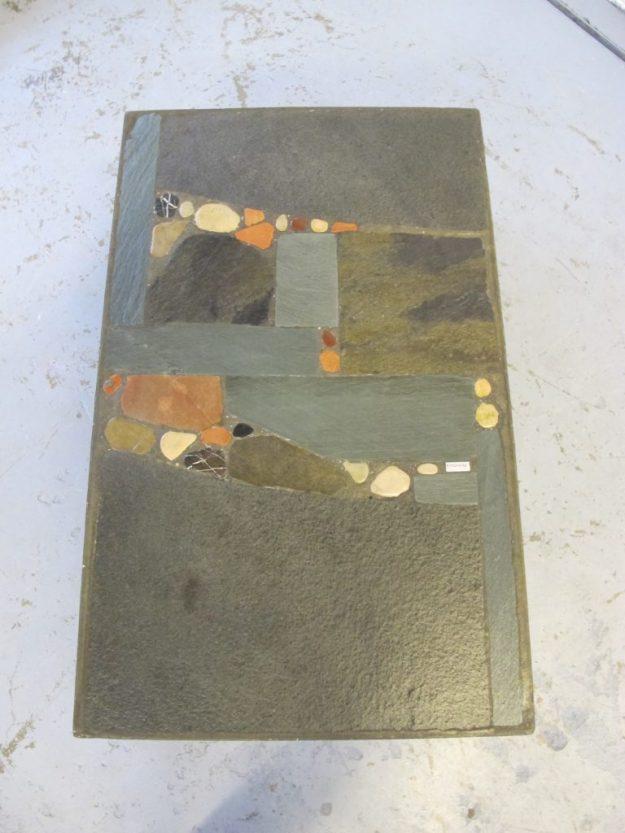 Vintage midcentury tafel beeldhouwer Paul Kingma salontafel