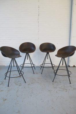 Midsentury vintage barkrukken stools tekenkrukken schoolkruk
