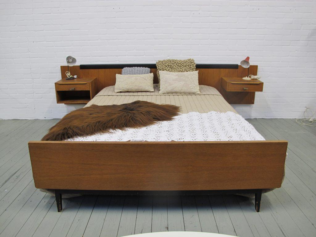 Pastoe Cees Braakman stijl bed minimalistisch model teakhout jaren ...