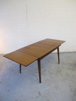 Louis van Teeffelen teakhouten eethoek tafel midsentury vintage