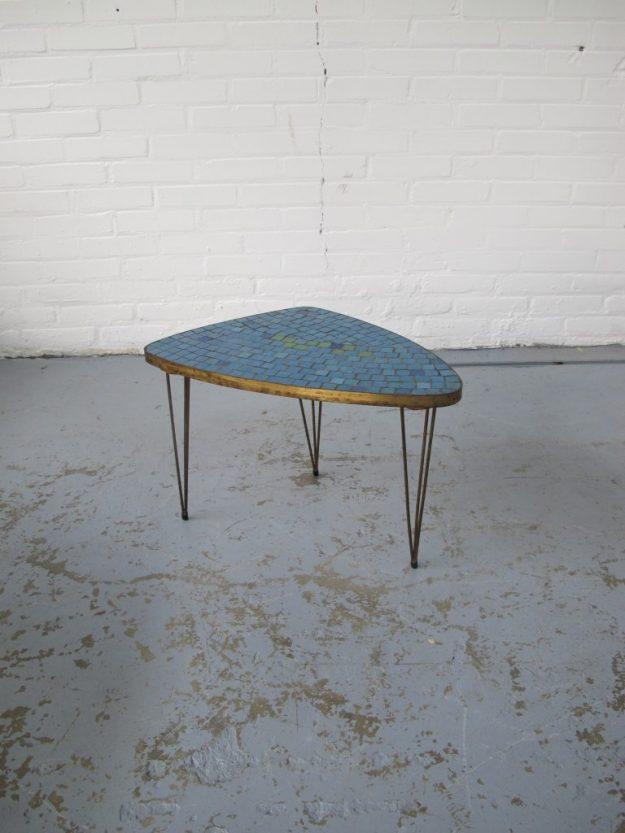 Pastoe driehoek tafeltje met mozaiek midsentury vintage